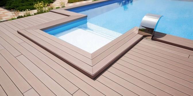 WPC Terrassendielen - resistent gegen Chlor und Salzwasser