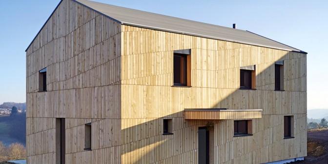 Flachdach-Holzbau